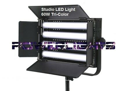 Professional Studio LED Light 60W Tri-Color 5600K-4500K-3200K DMX512 Photo Video