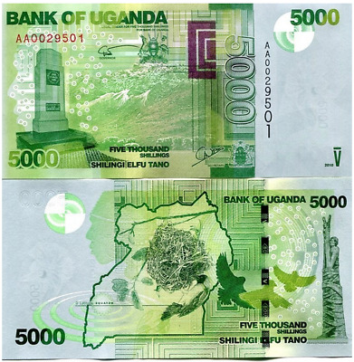 UGANDA 2010 5000 Shillings P-51 UNC  US-Seller