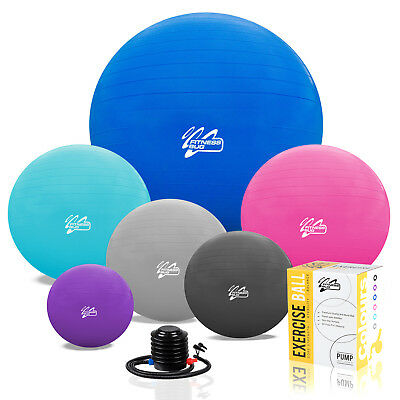 Exercise Ball Yoga Gym Swiss Pregnancy Birthing Anti-Burst 65cm 2000lbs inc Pump