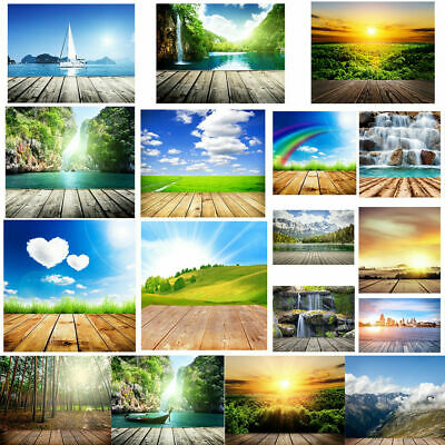Natural Scenery Wood Floor Photography Backdrop Baby Studio Photo Background