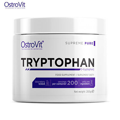 TRYPTOPHAN 200 SERVINGS! Restores Serotonin Level - The Hormone Of Happiness