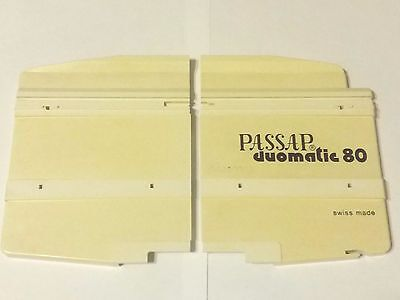 Passap Knitting Machine Duomatic 80 E6000 Plastic Side End Plates X2 Back Bed