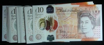 2016 10 Pound Bank Of England Polymer Banknotes -Ah Prefix- Brand New - 1 Note**