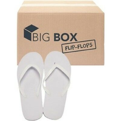 Women White Flip Flops, Wholesale lot of 48 pairs, Assorted Sizes