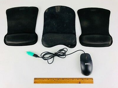 Lot of 3 Mouse Pads With Gel Wrist and Dell Computer Mouse Carpal Tunnel