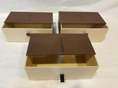 LOUIS VUITTON Empty Sunglass Case Pull Drawer Boxes ONLY - Lot of 3