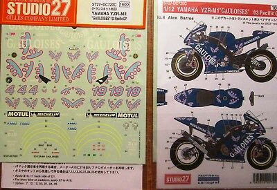 Decal: 1/12 S27 2003 Gauloises Yamaha Yzr-M1 Pacific Gp Special Paint