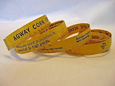 VTG AGWAY Corn Population Check Tape & Estimating Live Weight of Cow(Back)~108""