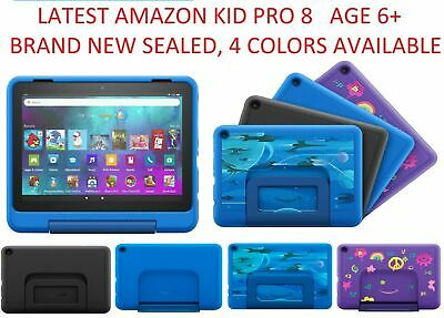 "Amazon Fire HD 8 Kids Tablet, 8"" HD Display, 32 GB –Pink yellow Blue Latest 2019"