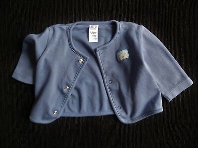 Baby clothes BOY 0-3m TU grey-blue cotton material cardigan poppers SEE SHOP!