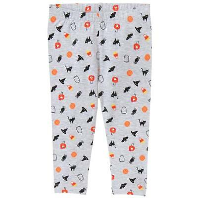 Gymboree 3T 4T 5T Halloween leggings gray spider pumpkin ghost candy NWT