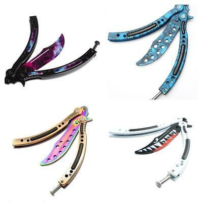 New CSGO Tactical Combat Trainer Practice Knife Balisong Blunt Butterfly Knife