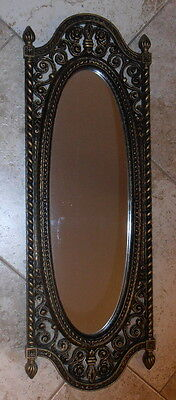 1973 DART IND. Gothic Elongated Mirror #2356 Black and gold NICE