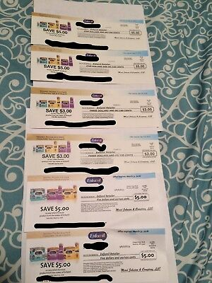 6 Enfamil coupons 26$ value expire 3/31 4/31 5/31