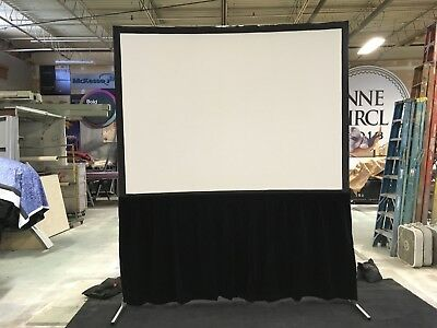 Draper 6'x8' Projection Screen w/Skirt FP &- Used - Good Condition