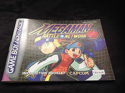 Megaman Battle Network Nintendo Gameboy Advance Gba *instruction Manual Only*