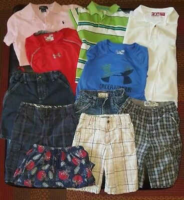 Size 7 Boys Clothes lot, summer/ Under Armour/Polo/Childrens Place/Shaun White.