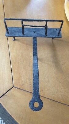 Antique or Vintage Wrought Iron Fireplace Hearth Toaster Primitive Blacksmith