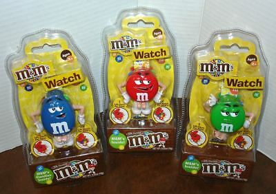 Set of 3 M&M's 2007 Digital Wrist Watch Candy Containers
