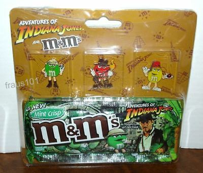 M&M's Indiana Jones 3 Pin Set NEW on Collector Card