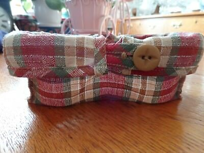 Longaberger Paprika Plaid Small Barbeque Buddy Liner