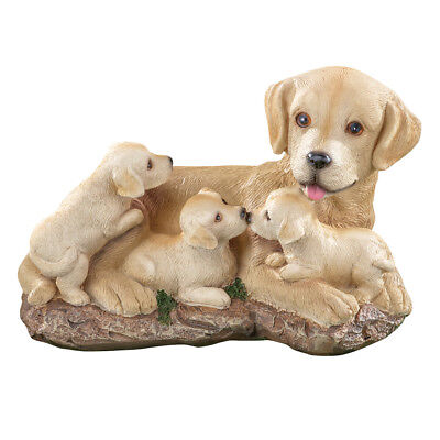 Mama and Puppy Dogs Labrador Indoor & Outdoor Garden Statue, by Collections Etc