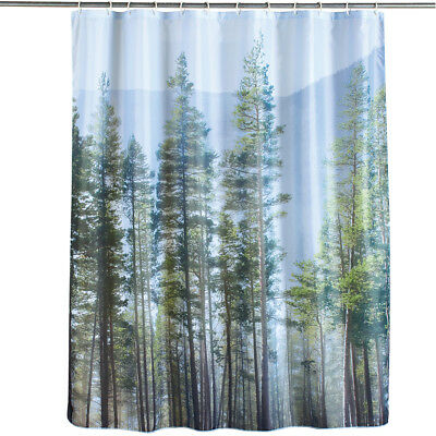 Majestic Pine Forest Scene Shower Curtain By Collections Etc