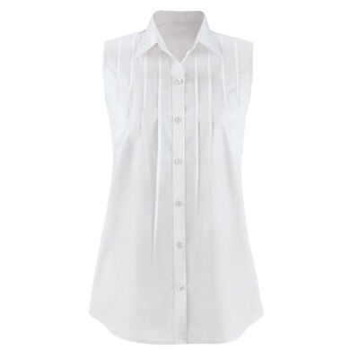c6ded020c18 WOMEN'S PINTUCK BUTTON Down Sleeveless Shirt, by Collections Etc ...