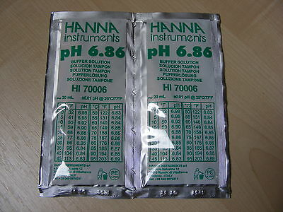 2 X Hanna Ph Solution Calibrage Tampon Evaluation Ph Sachets Hi 70006 6.86 Ph