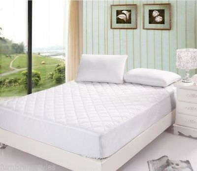 Deep Tc200 Egyptian Cotton Quilted Mattress Protector Fitted Cover