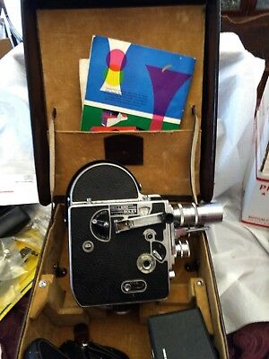 Paillard Bolex H-8 8mm Camera with case and accessories. Free Shipping USA only
