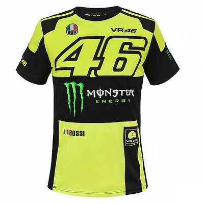 Valentino Rossi VR46 Moto GP Monster Energy T-shirt Official 2018