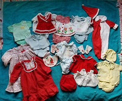 1980 Vintage Baby Girl Lot of 2-piece Outfits and more 0-6 mo