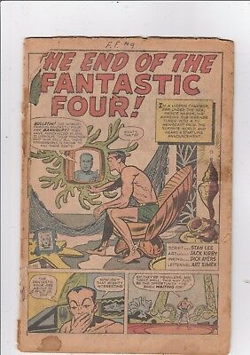 FANTASTIC FOUR #9 Coverless 3RD APPEARANCE OF SUB-MARINER