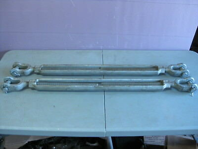 (Lot of 2) Campbell Turnbuckles J&J Jaw and Jaw, 1x24, WLL 5 Tons, USA, NEW