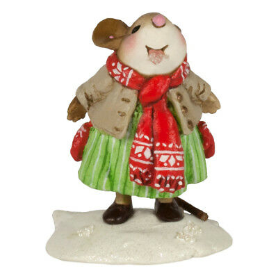 CATCHING CRYSTALS by Wee Forest Folk, WFF# M-626, Christmas 2017 Mouse