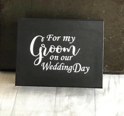 Groom Gift Box Black Wedding Box