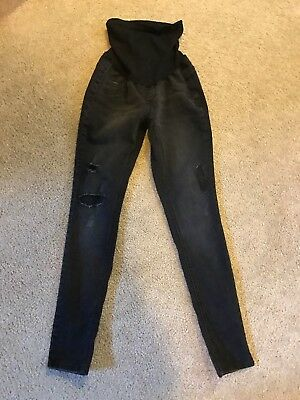 Black Jessica Simpson Maternity Jeans with secret fit belly tech in size S