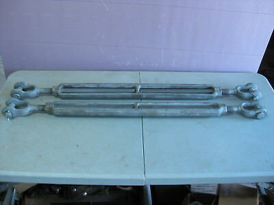 "(Lot of 2) Crosby HG-228 Jaw and Jaw Turnbuckle 1"" x 24"", WLL 5 Tons, = USA"