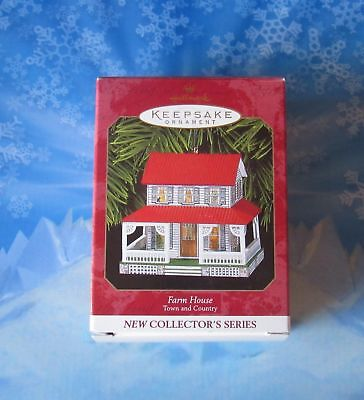 Hallmark Ornaments Pressed Tin Farm House Christmas Town And Country 1999