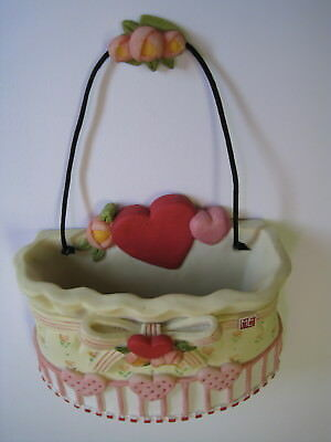 MARY ENGELBREIT SWEET HEART HANGING WALL POCKET~New in Original Box for Gifting