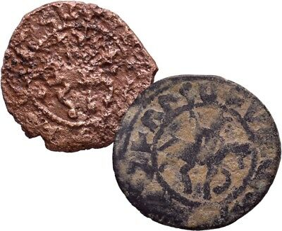 Cilician Armenia. Smpad, 1296-1298 AD. Copper pogh. . Lot of 2
