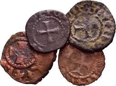 Cilician Armenia. Lot of 4 Copper pogh. .