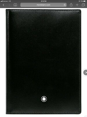MONT BLANC MENS Meisterstuck  Passport Holder Cover Wallet travel black ret 205