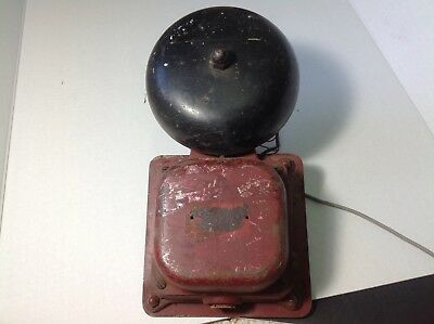 Antique vintage Old electric door bell gate Ringer School House farmhouse decor