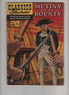 Classics Illustrated #100 Comic Book MUTINY on the BOUNTY Nordhoff & Hall HRN155