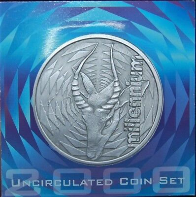 2000 South Africa Uncirculated 9 Coin Set - Mint Sealed With Original Packaging