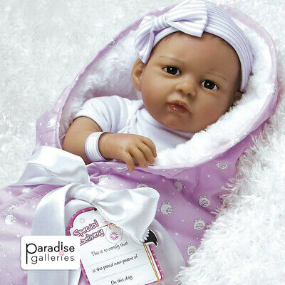 Paradise Galleries Real Life Silicone Vinyl Hispanic Reborn Baby Doll Princess