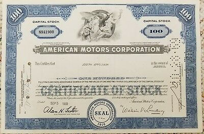 1969 amc american motors electrical wiring diagram manual 69 rambler wiring diagram for 1971 amc hornet 1969 american motors 100 share stock certificate javelin amc