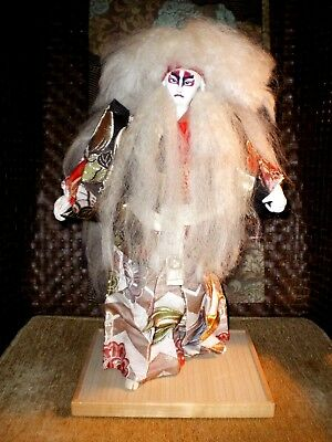 Stunning Old Large Japanese Kabuki Lion Dancer Doll-- 19 1/2 inches Tall EUC